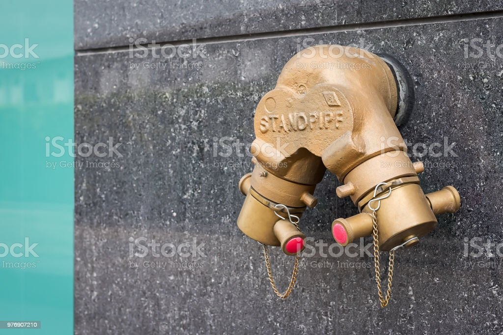 water supply for emergency. stock photo