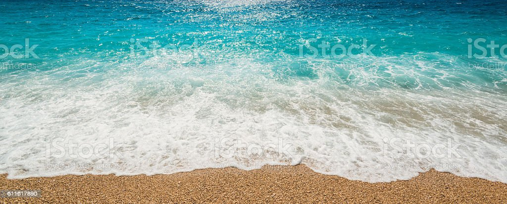 Water surface at Bol, Brac Island, Croatia stock photo
