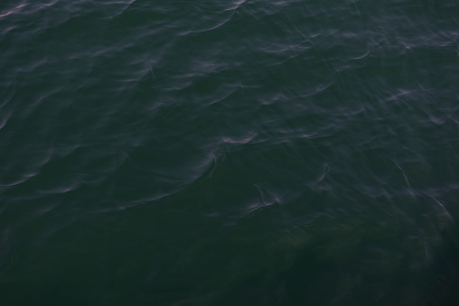 High angle view of water surface texture background of the deep sea.