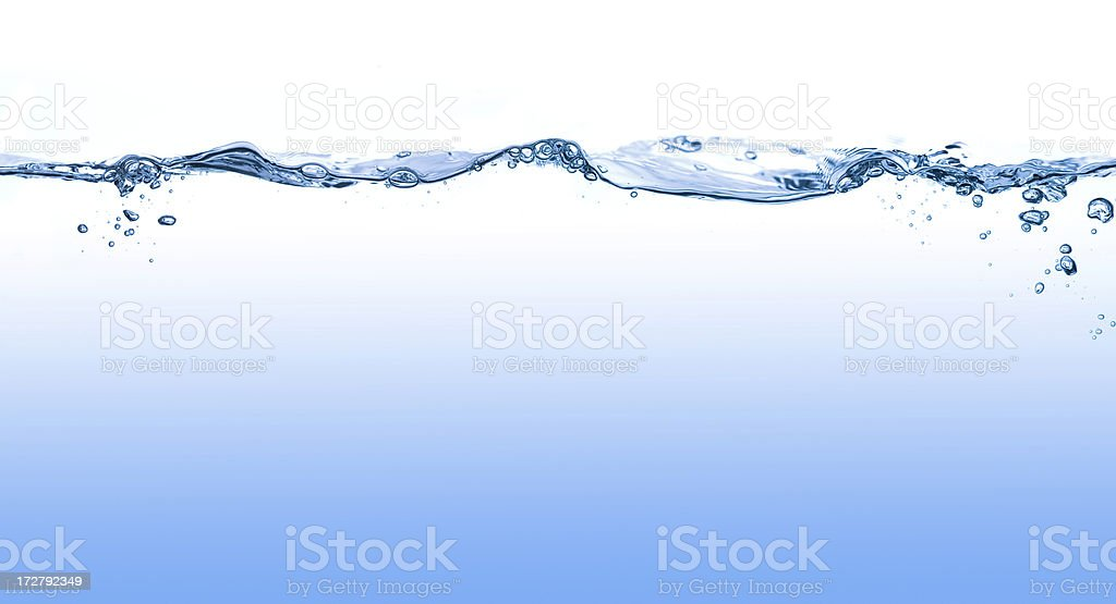 Water Surface with Waves and Bubbles stock photo