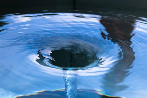 Water swirl stock photo