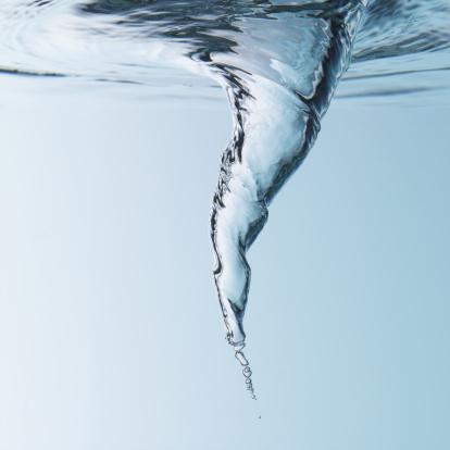 Water spinning around