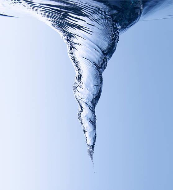 水の渦巻き ストックフォト