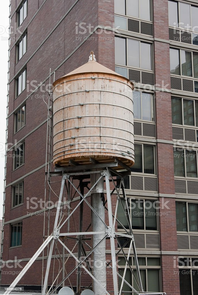 Water Tank On Top Of Apartment Building Royalty Free Stock Photo