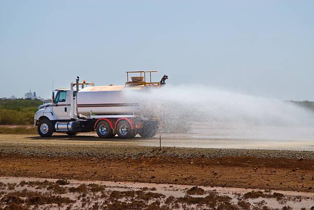 water tanker/Lkw Staub Unterdrückung auf Baustelle – Foto