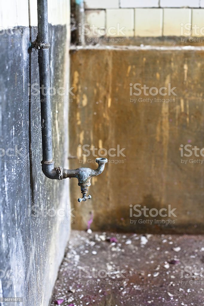 water tap upside down royalty-free stock photo