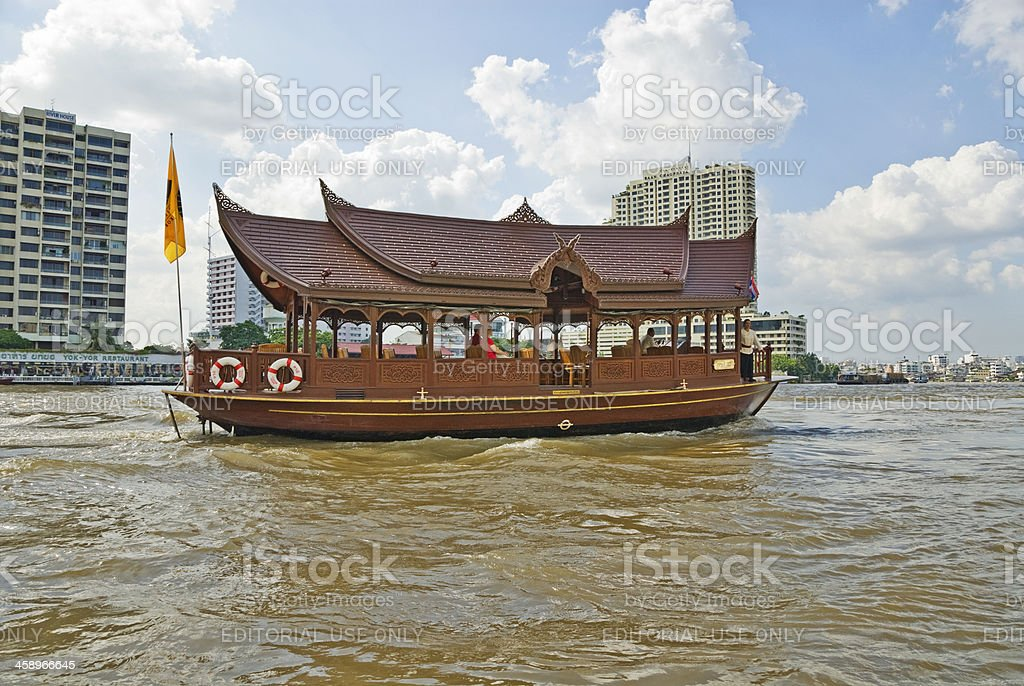 Water Taxi Bangkok River royalty-free stock photo