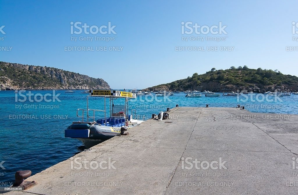 Water taxi by the jetty royalty-free stock photo