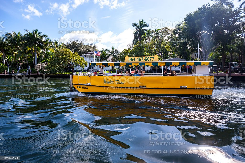 Water Taxi in Fort Lauderdale, USA stock photo