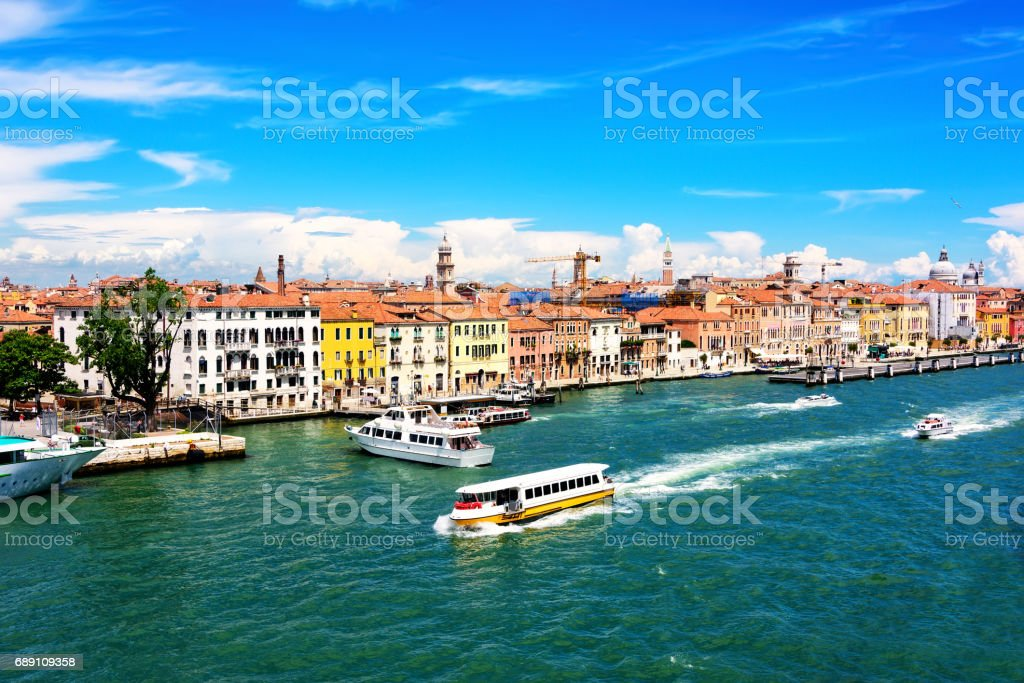 Water Taxi in Venice stock photo