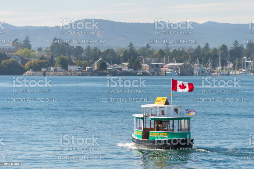 Water Taxi in Victoria Harbour stock photo