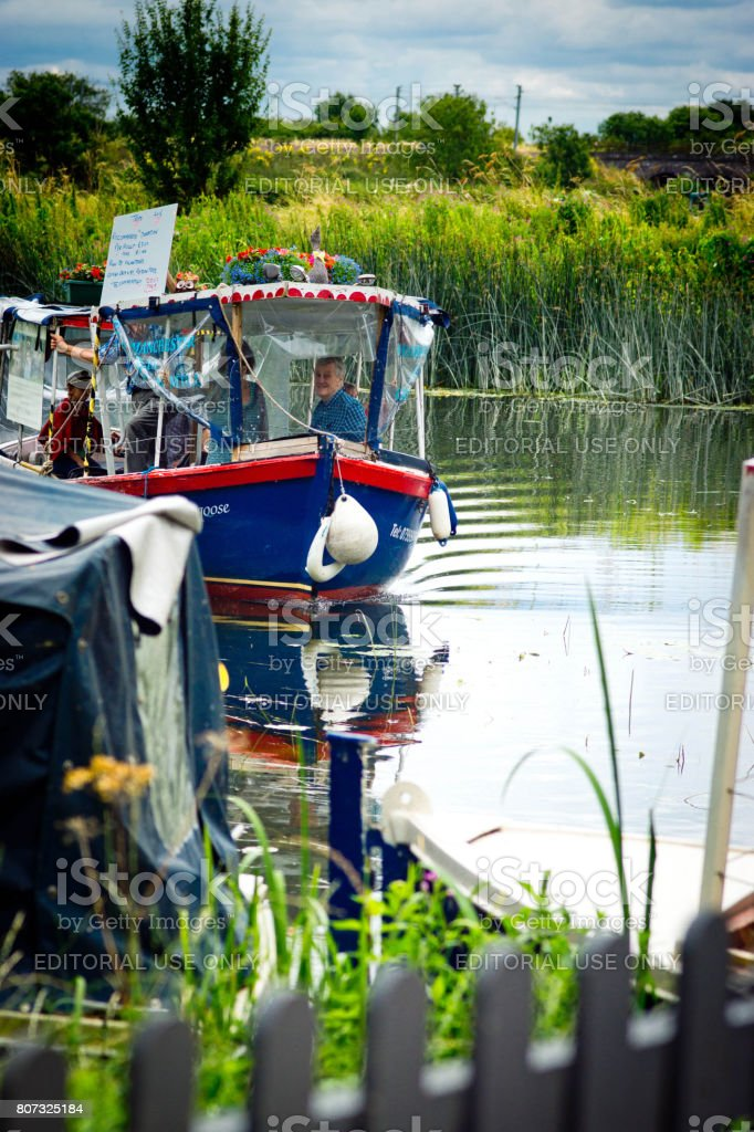 Water taxi on the River Great Ouse stock photo
