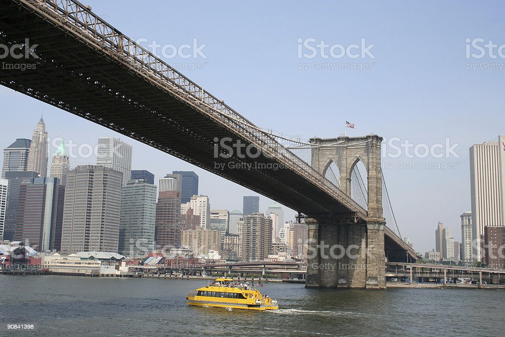 NYC water taxi stock photo