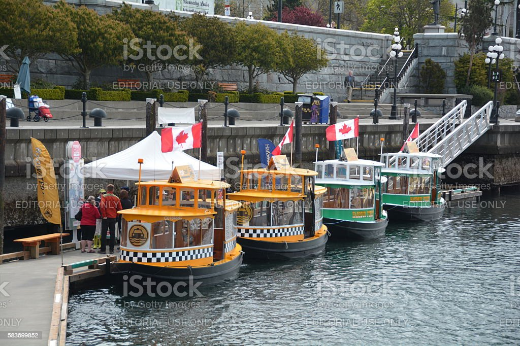 Water taxis stock photo