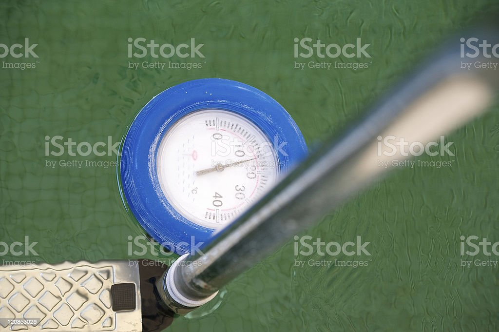 Water temperature gauge in a pool stock photo download - Swimming pool water temperature gauge ...