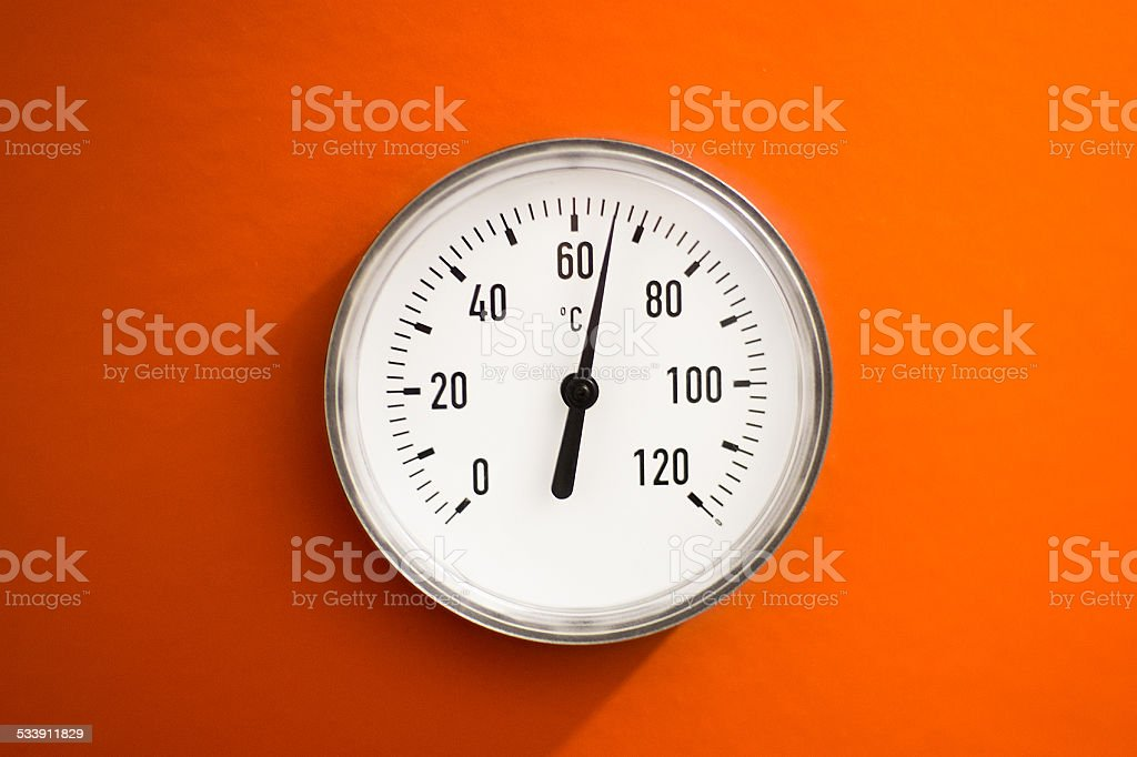 Water Temperature Gauge stock photo