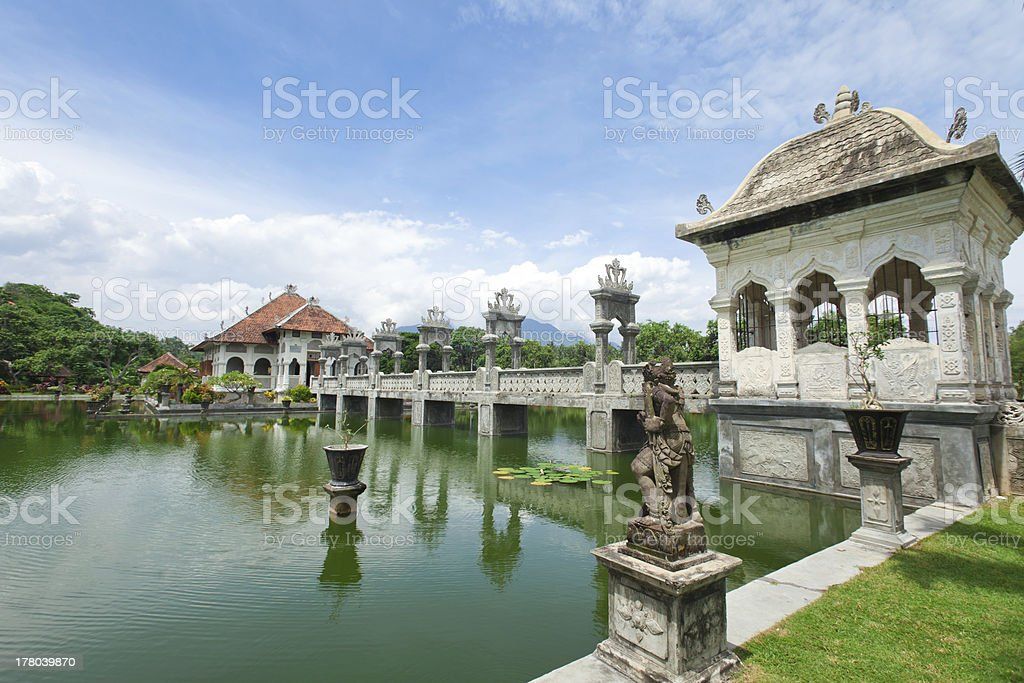 Water temple in Bali stock photo