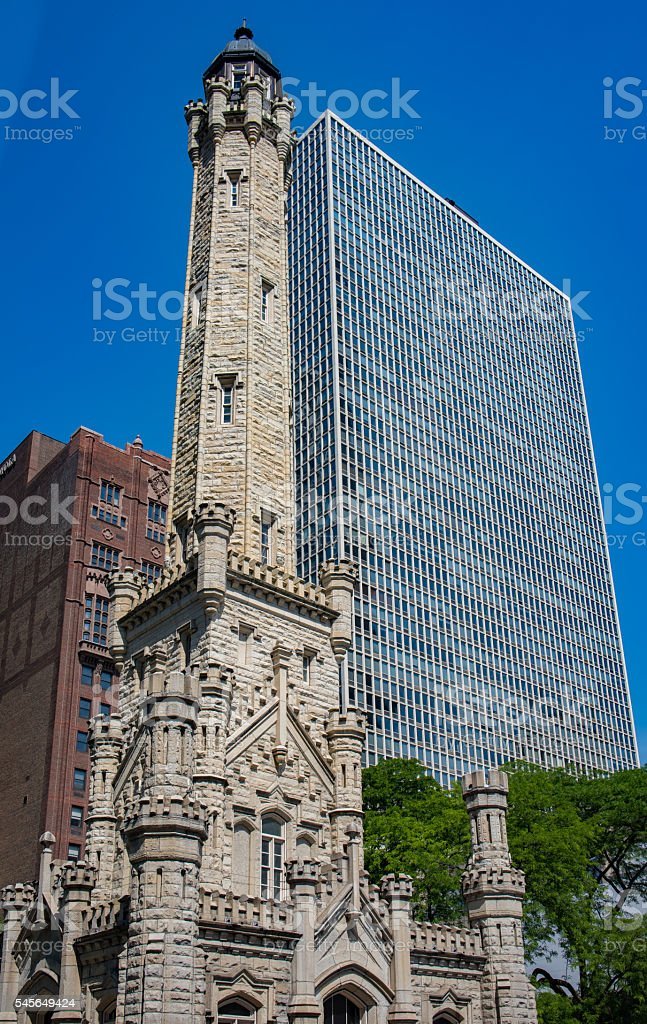 Water Tower District, Chicago, IL stock photo