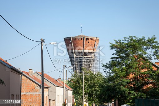 Water Tower in Vukovar, Croatia. During the Battle of Vukovar in 1991, the Water Tower was one of the most frequent targets of artillery and hit more than 600 times
