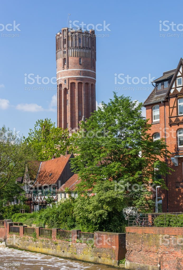 Water tower in the historic center of Luneburg, Germany Water tower in the historic center of Luneburg, Germany Architecture Stock Photo