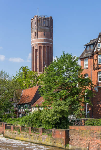 Water tower in the historic center of Luneburg, Germany Water tower in the historic center of Luneburg, Germany lüneburg stock pictures, royalty-free photos & images