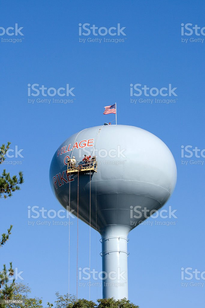 Water Tower Painters royalty-free stock photo