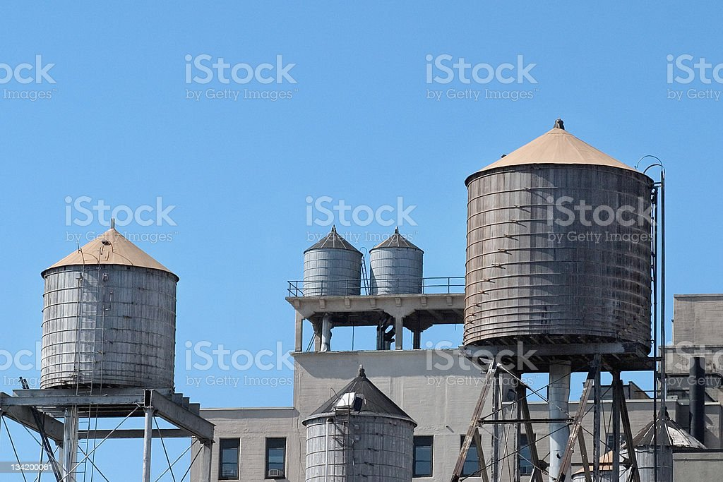 Water towers royalty-free stock photo