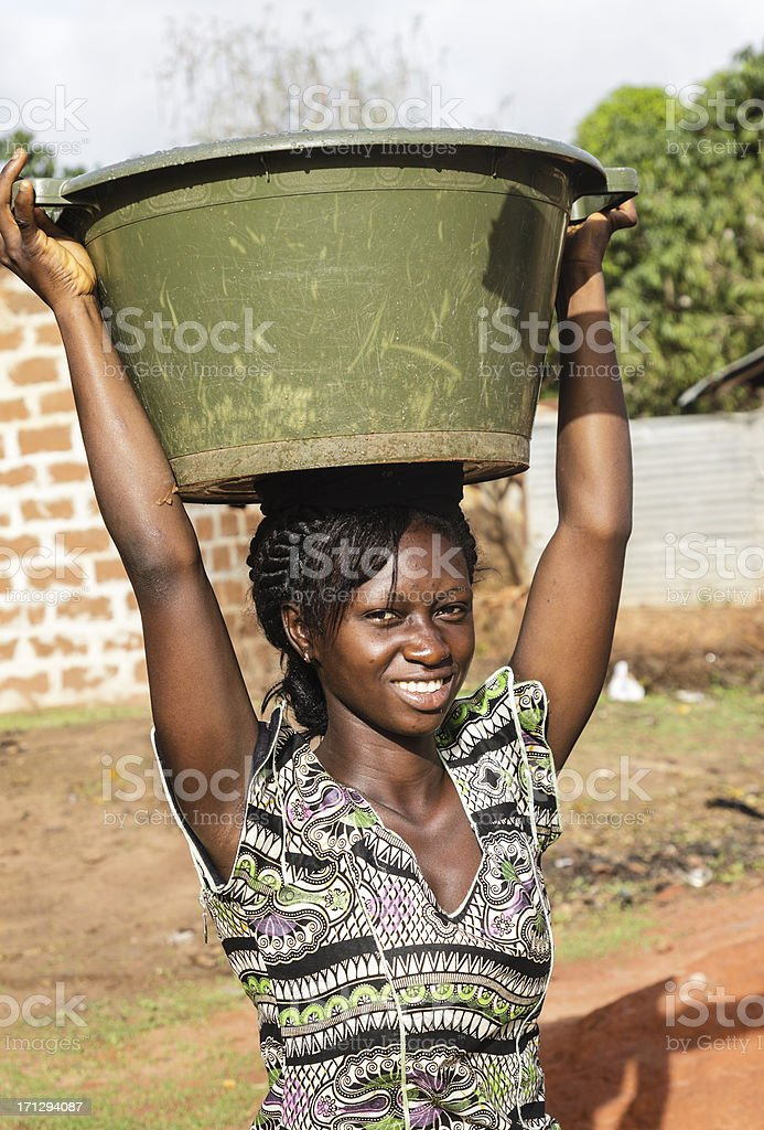 Water transport in africa royalty-free stock photo