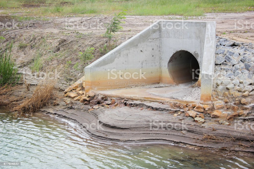 Water Treatment Pond stock photo