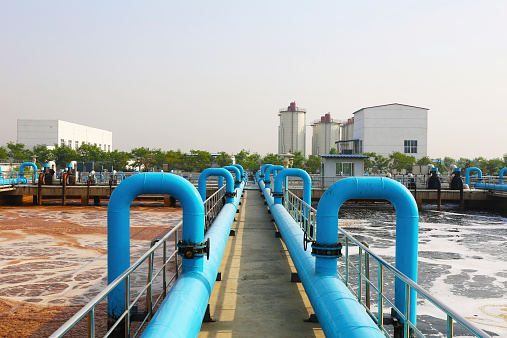 A part of  a water treatment tank