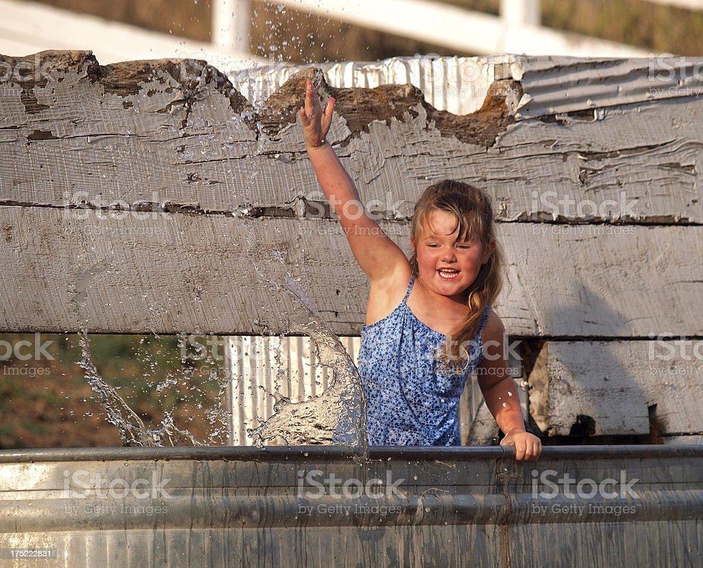 Water Trough Splash royalty-free stock photo
