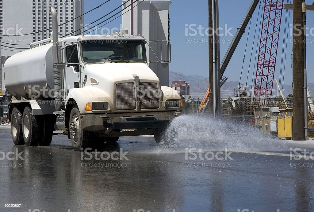 Water Truck in action royalty-free stock photo