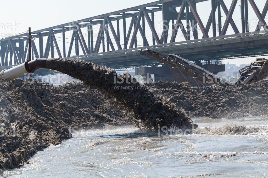 water turbid with mud stock photo