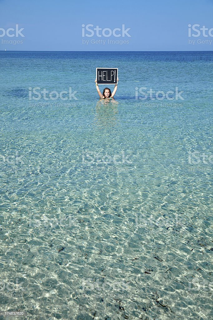Water up to the neck royalty-free stock photo