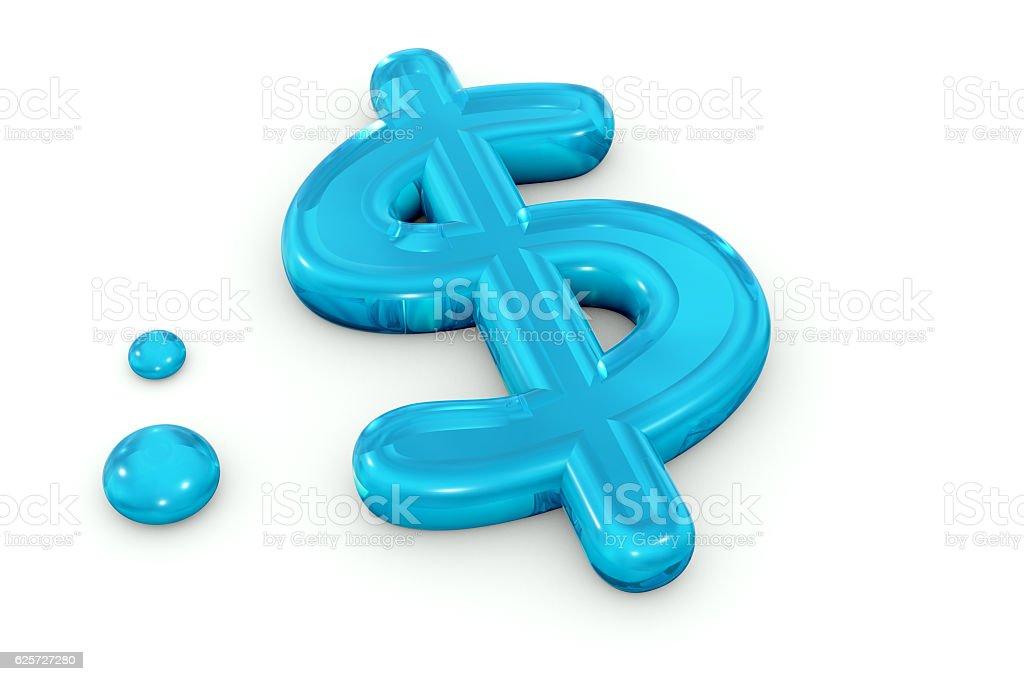 Water US Dollar Symbol stock photo