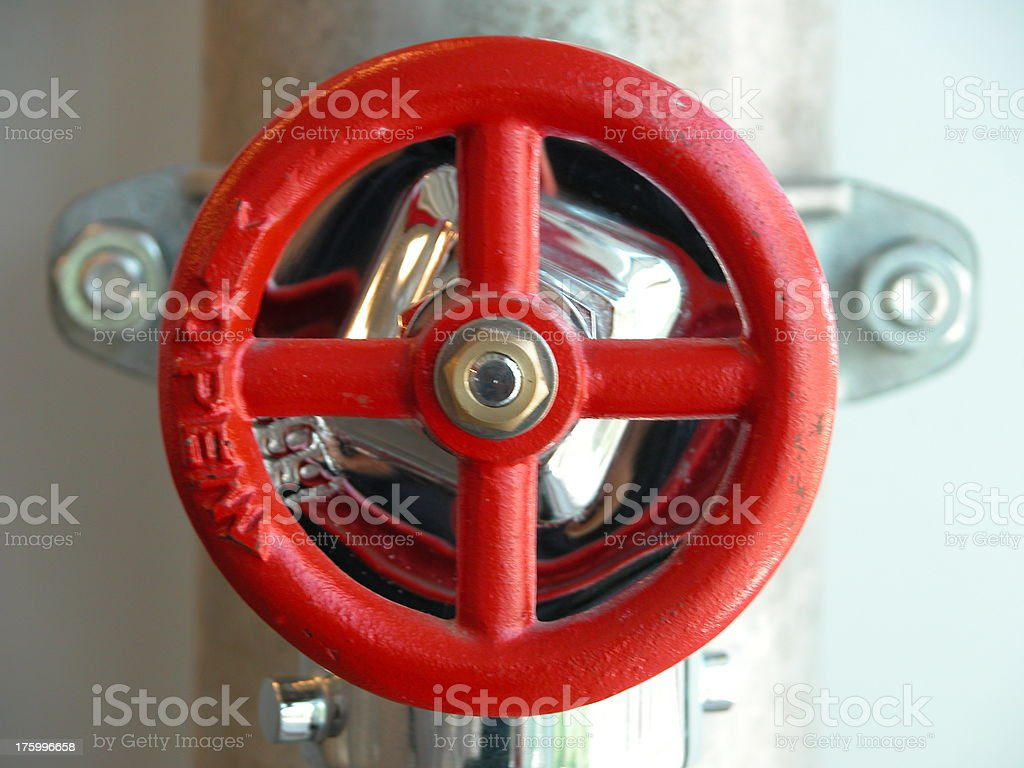 Water Valve for Fire Hose stock photo