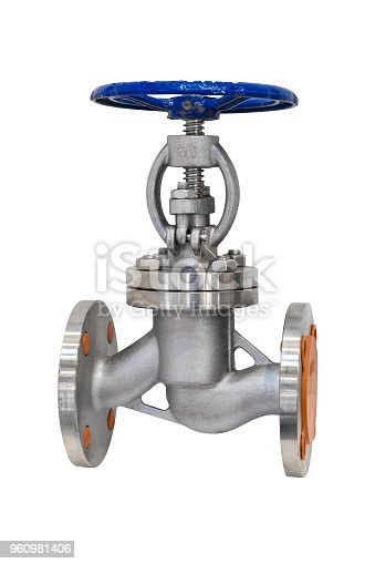 Water valve for industry isolated on white background