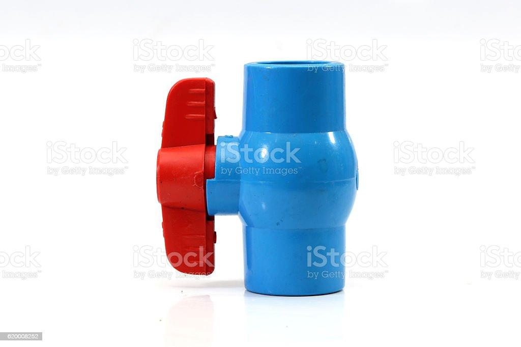 PVC Water valve isolated on white background. zbiór zdjęć royalty-free