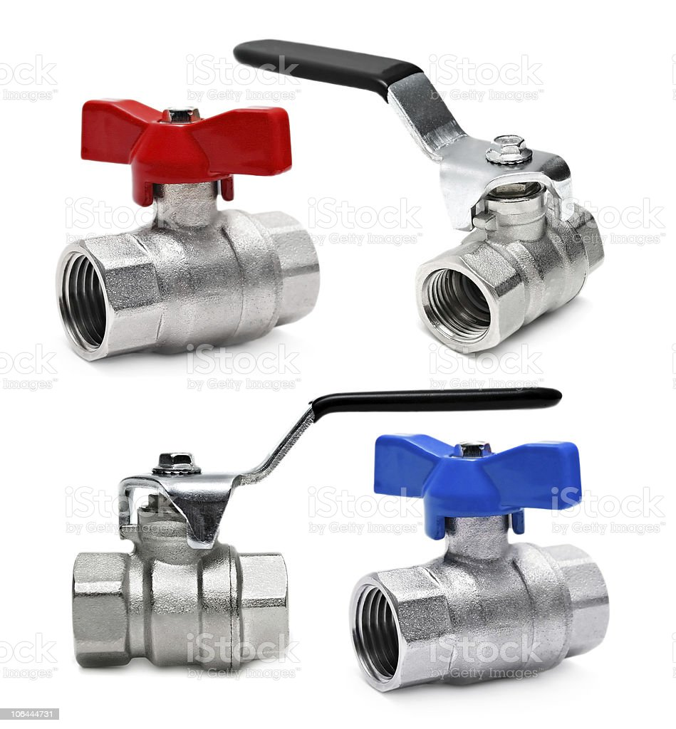 Water valve isolated royalty-free stock photo
