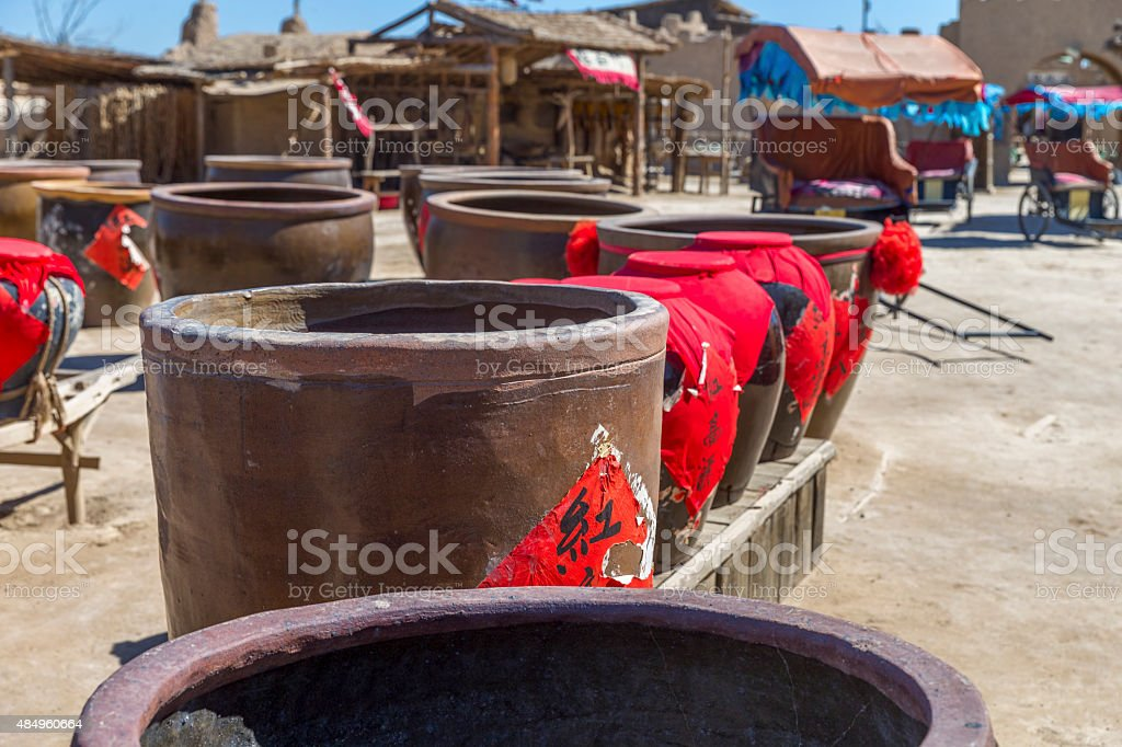 Water Vat to Brew Wine by Traditional Methods stock photo
