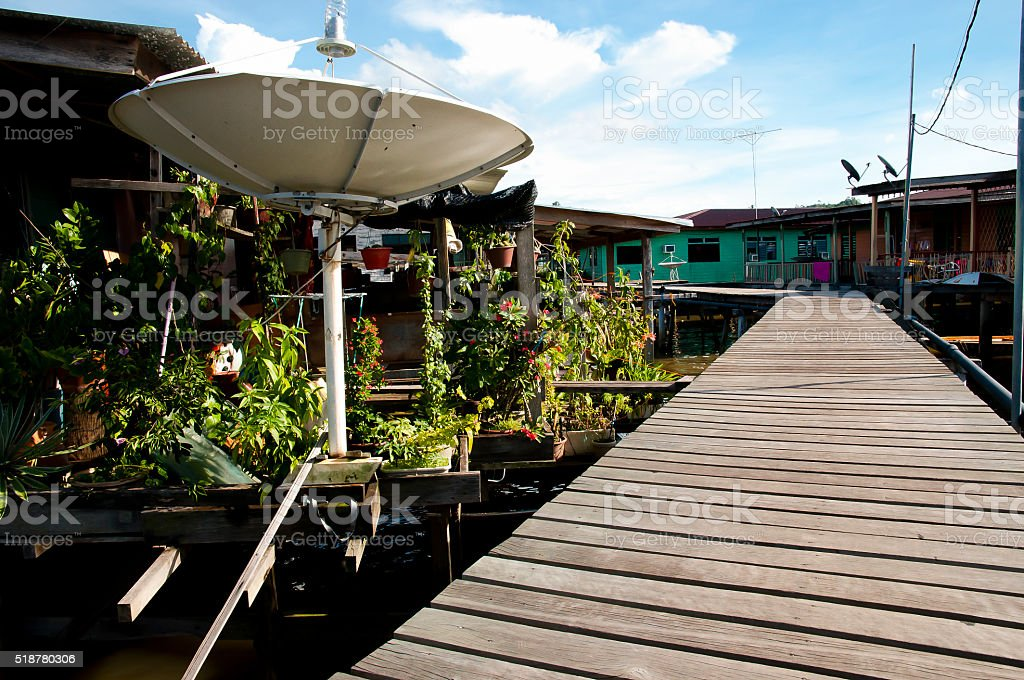 Water Village - Bandar Seri Begawan - Brunei stock photo