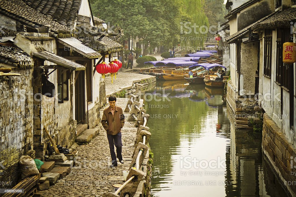 Water Village in China stock photo