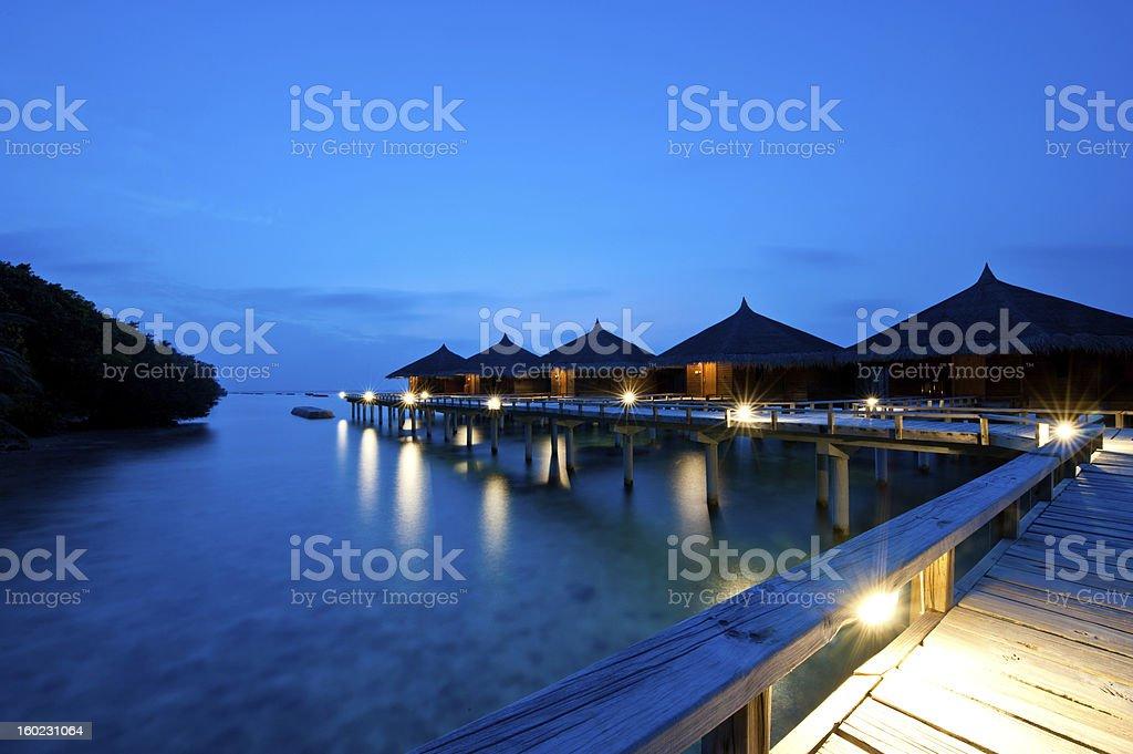 Water Villas In Kuramathi Island Resort Maldives Stock Photo More