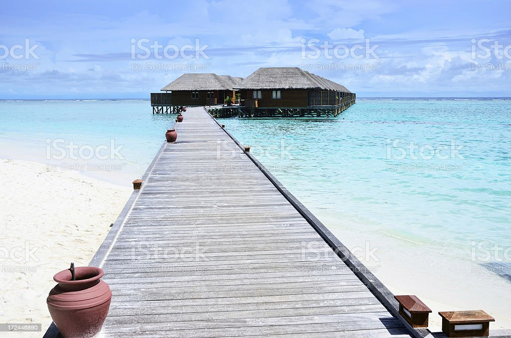 Water villas royalty-free stock photo
