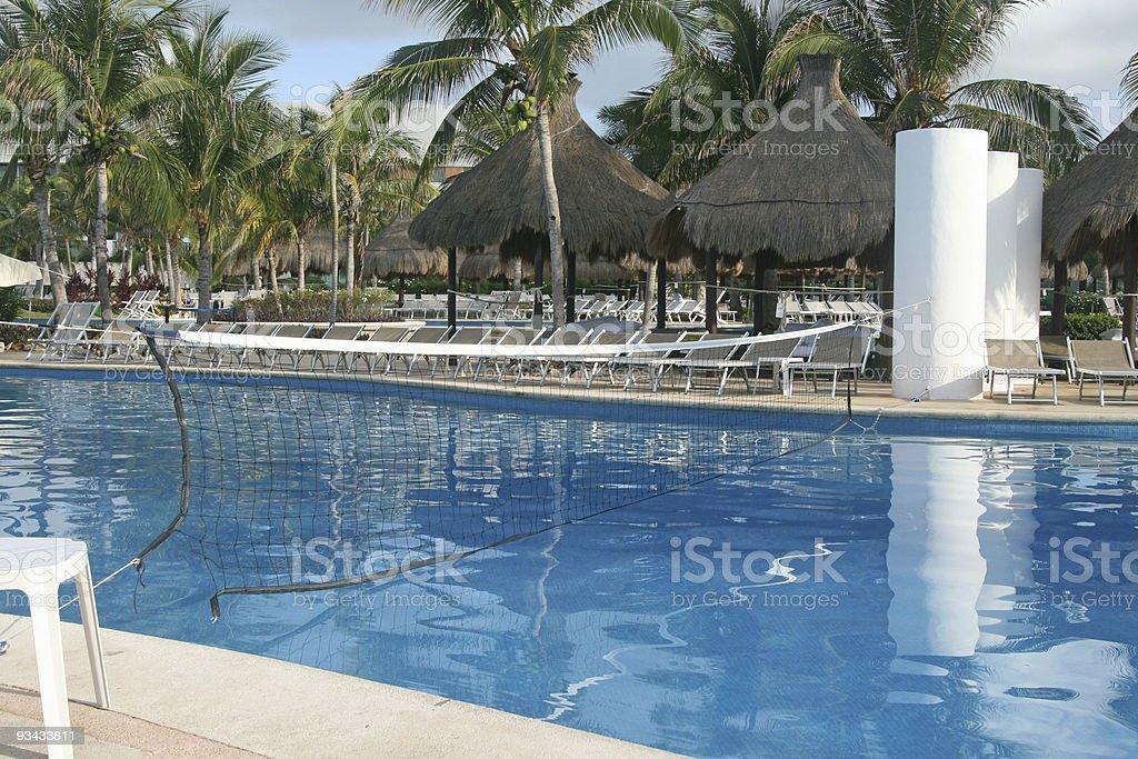 Wasser-volleyball Lizenzfreies stock-foto