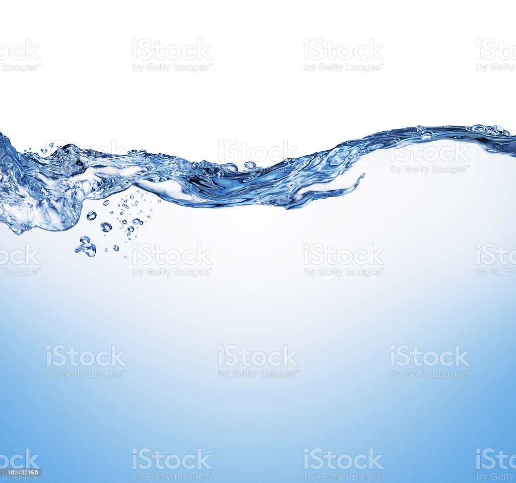 water wave splashing stock photo