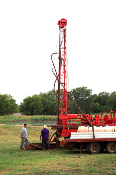 Water Well Drilling Rig stock photo