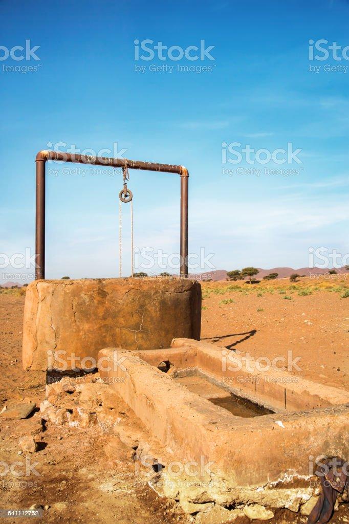 Water well in Sahara Desert foto