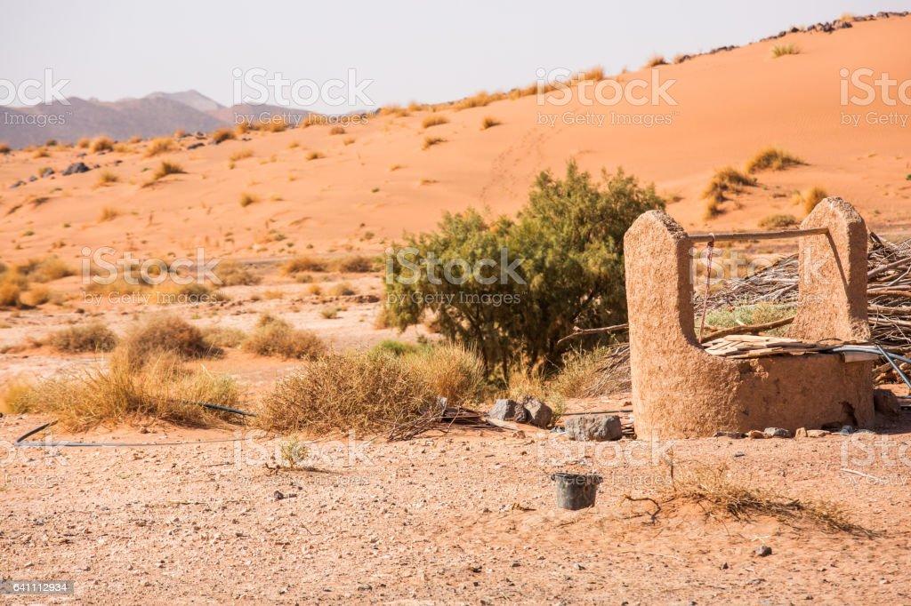 Water well in Sahara Desert stock photo