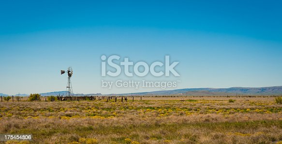 Lone windmill on a Texas ranch